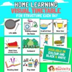 Home Learning Visual Timetable