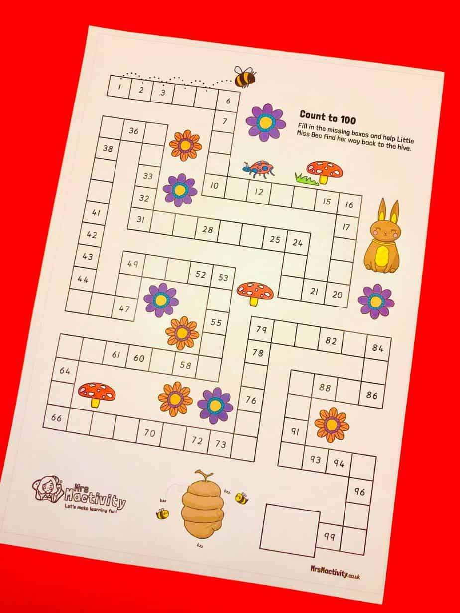 Counting to 100 activity