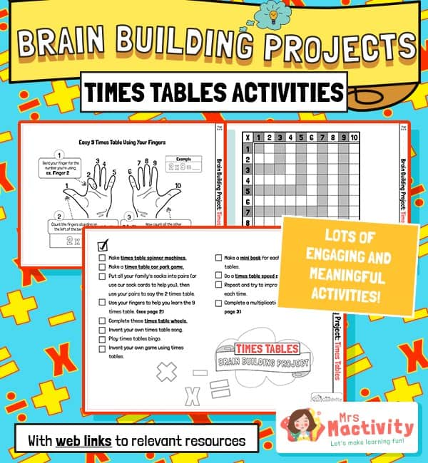 Times Table Brain Building Activities