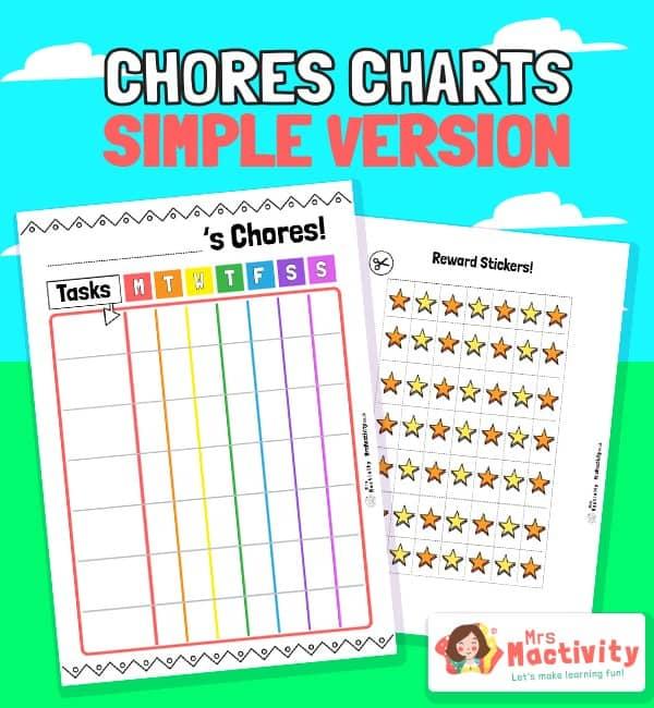 Children's Rainbow Chore Chart