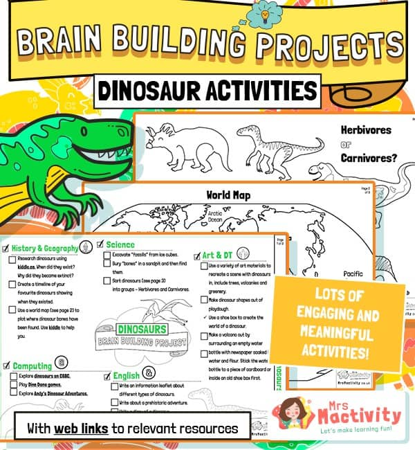 Dinosaurs Brain Building Activities