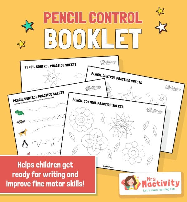 Pencil Control Practice Booklet