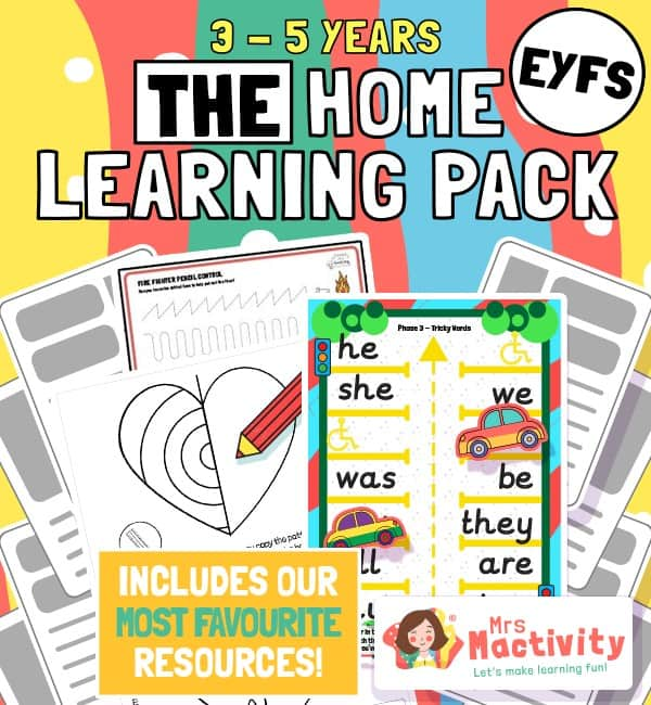 EYFS home learning pack