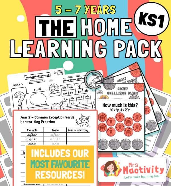KS1 home learning pack