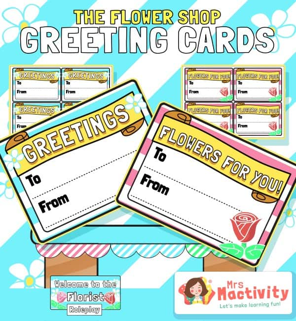 The Flower Shop Greetings Labels
