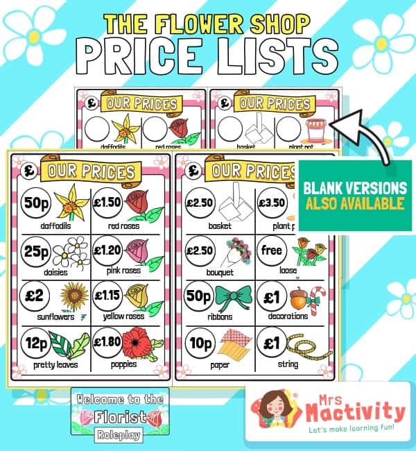 The Flower Shop Flower Price List