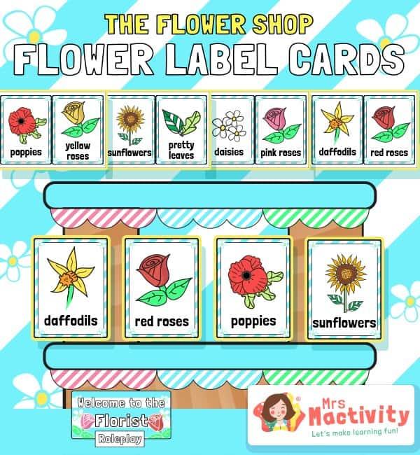 The Flower Shop Flower Label Cards
