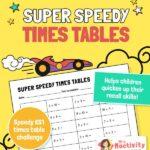 Super Speedy KS1 Times Table Practice Worksheet