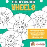 Multiplication Wheels Activity Worksheet