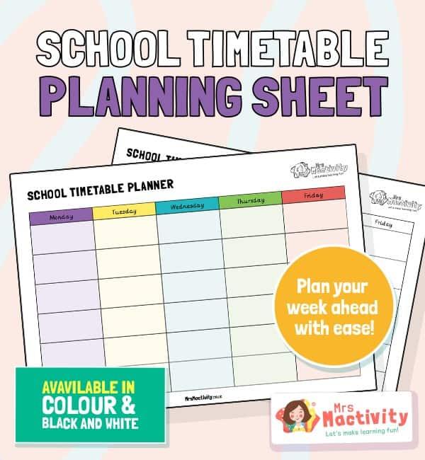School Timetable Planner
