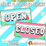 The Flower Shop Opening and Closed Signs