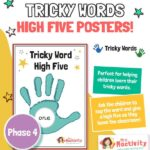 phase 4 tricky words high five