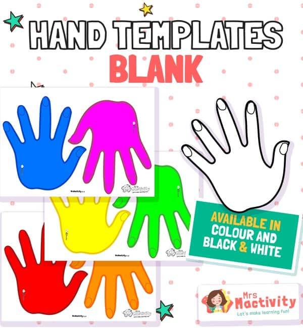 Blank Hand Templates
