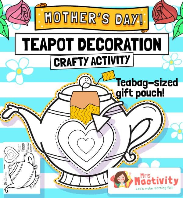 Mother's Day Teapot Craft Activity