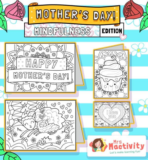 Mother's Day Mindfulness Colouring Cards