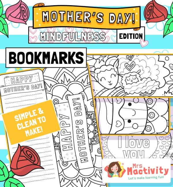 Mother's Day Mindfulness Bookmarks