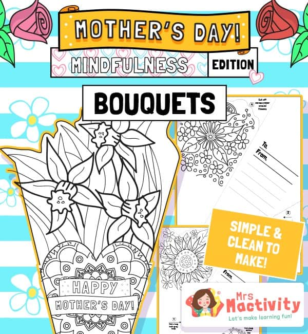 Mother's Day Mindfulness Paper Bouquet