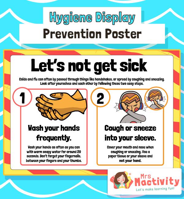 Sickness Spreading Prevention Poster