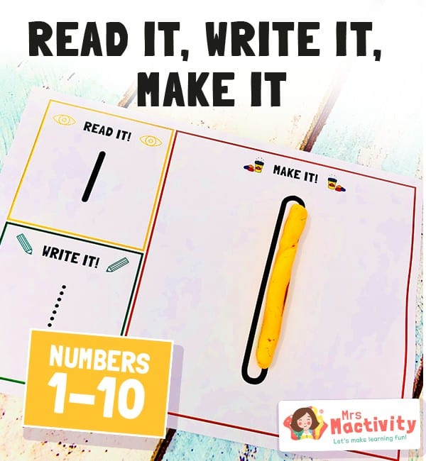 Number Formation - Read it Write it Make it