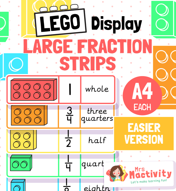 Lego Display Fraction Strips