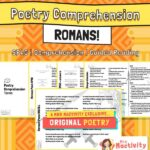Original Romans Poetry Comprehension and Guided Reading Activity