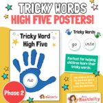 Phase 2 tricky word high five