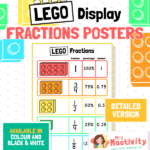 Lego Fractions Posterwith Percentages and Decimals