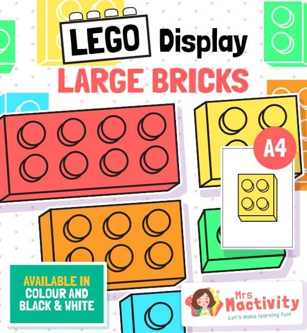 Lego bricks classroom display