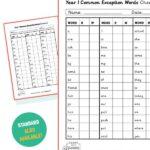 year 1 common exception word checklist
