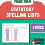 Year 34 Statutory spelling lists