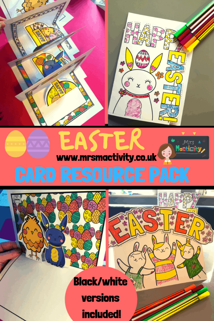 Easter card resource pack