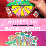 Mother's Day plate bouquet craft