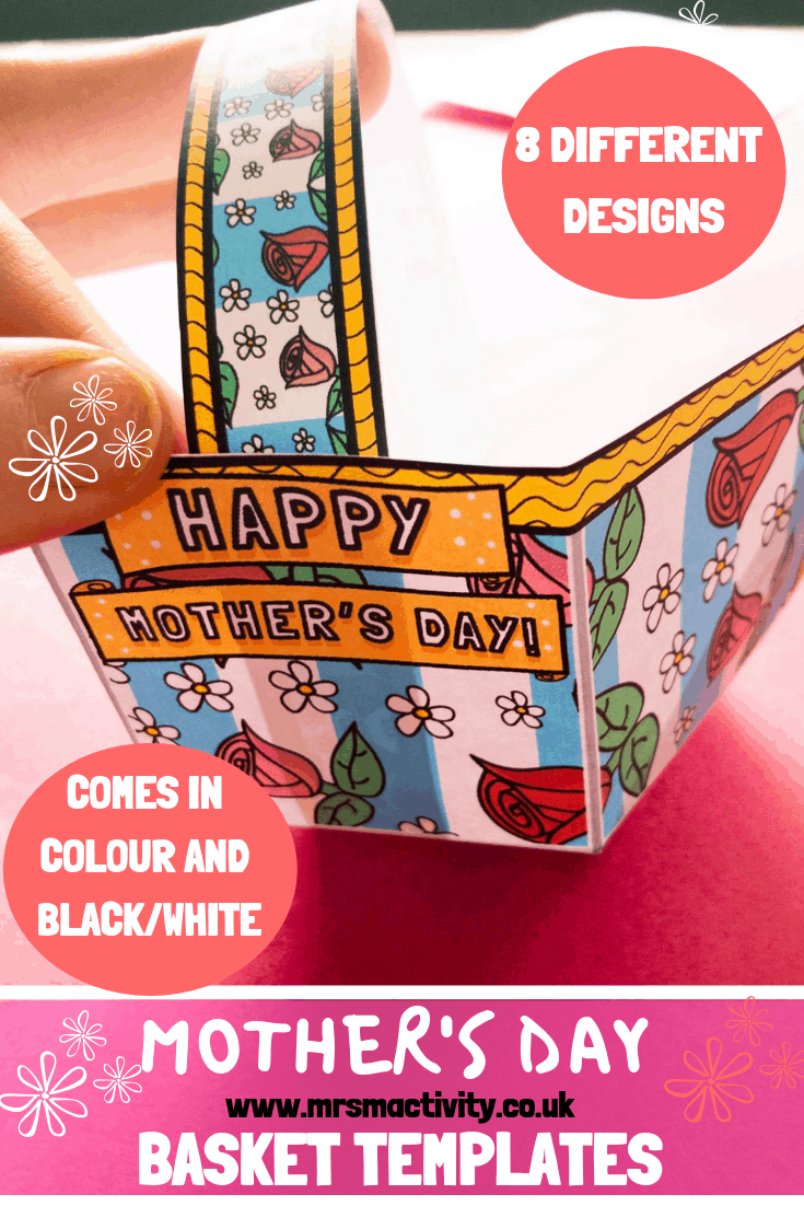 Mother's Day basket templates