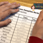 year 2 common exception word handwriting practise sheets
