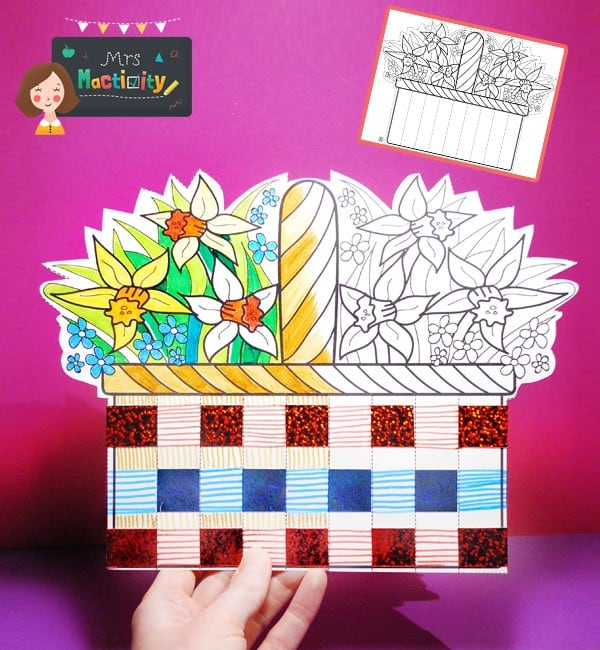 Mother's Day basket card craft