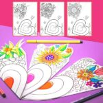 Mother's Day Flower Colouring Craft - Smaller Version