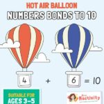 Hot Air Balloon Number Bonds to 10 Activity