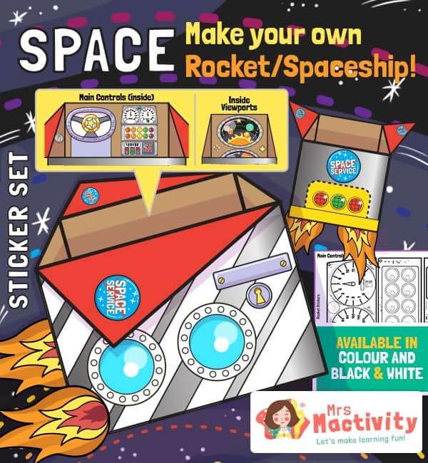Make Your Own Cardboard Rocket Decals