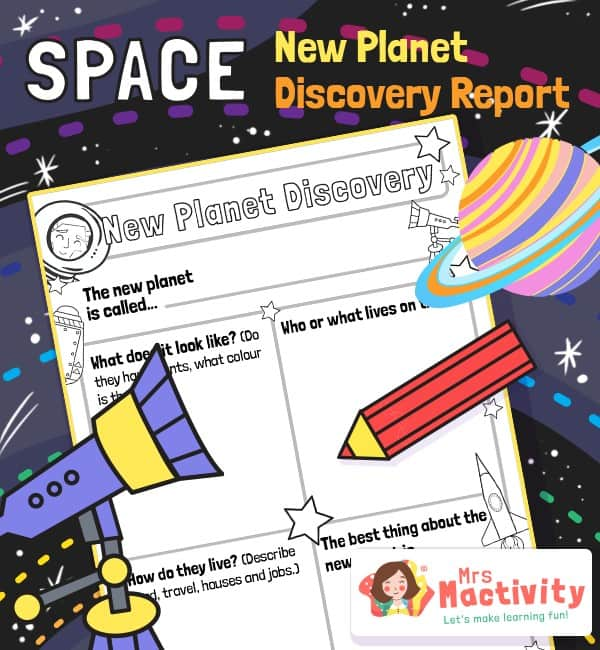 New Planet Discovery Writing Activity