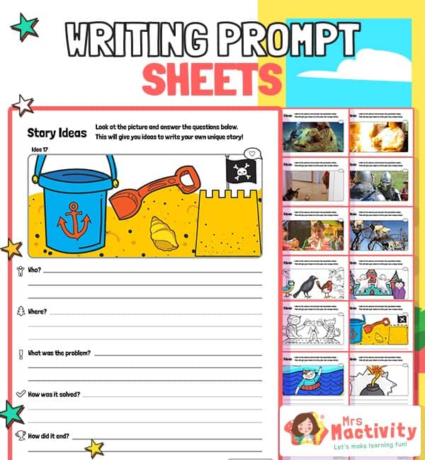 Story Starter Writing Prompt Sheets
