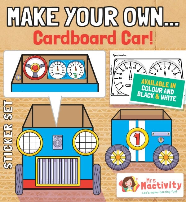 Make Your Own Cardboard Car Decals