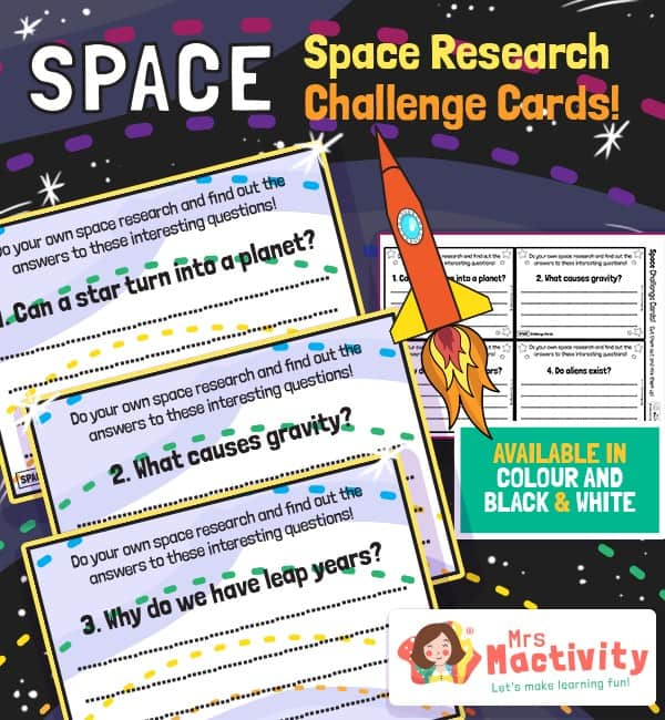 Space Challenge Cards