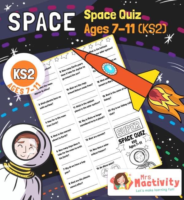 Age 7-11 (KS2) Kids Space Quiz