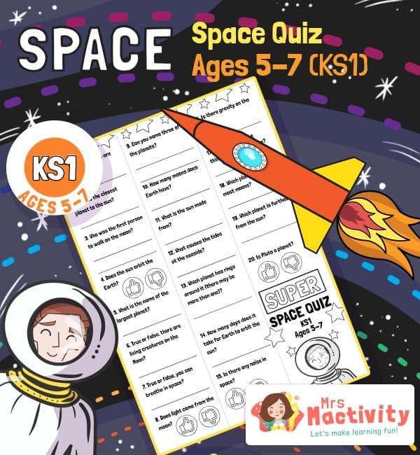 Age 5-7 (KS1) Kids Space Quiz