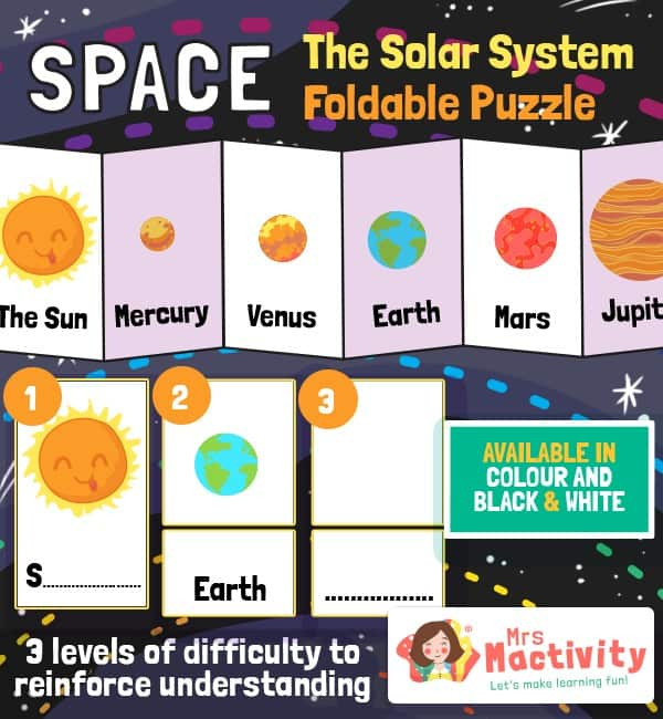 Differentiated Space and The Solar System Ordering Activity Craft