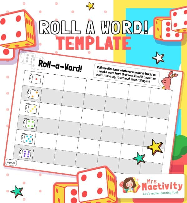 Roll-a-Word Template