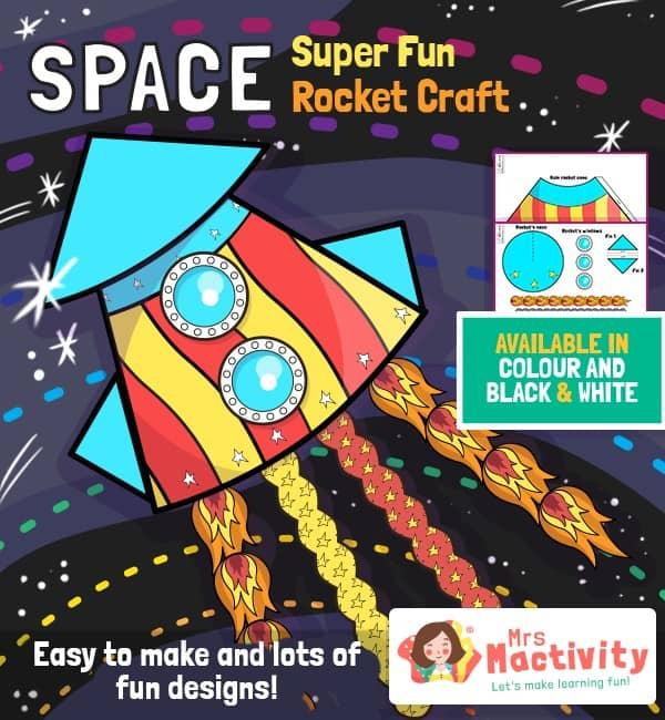 Space Rocket Paper Craft