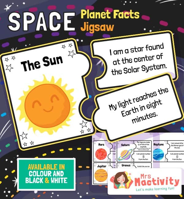 Space Planet Facts Jigsaws