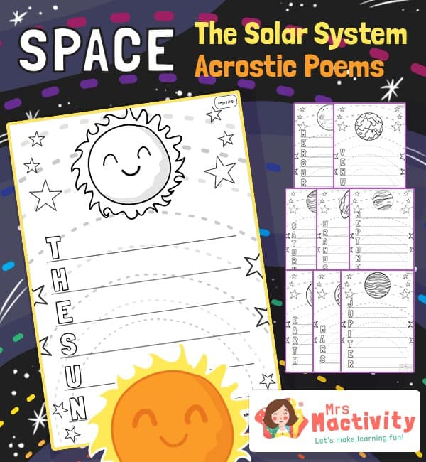 The Solar System Acrostic Poem Templates