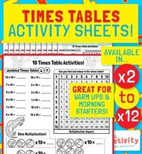 KS2 (age 7-11) Times Tables Activity Pack